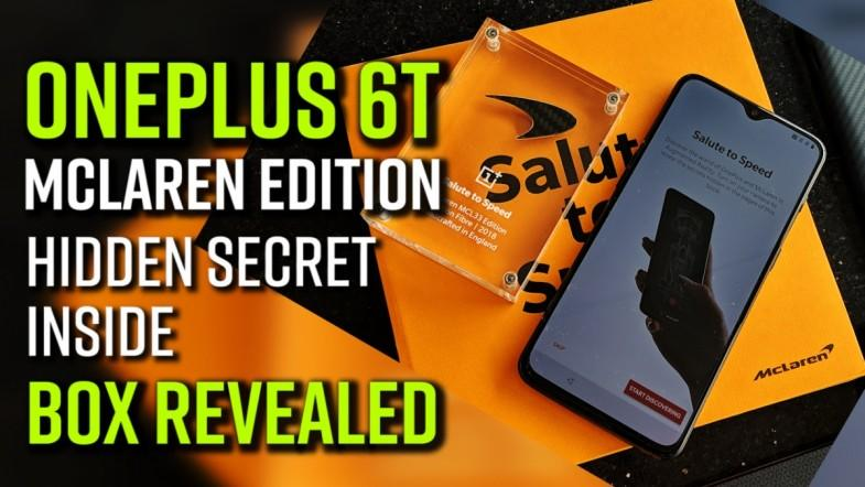 OnePlus 6T McLaren Edition hidden secret inside box revealed