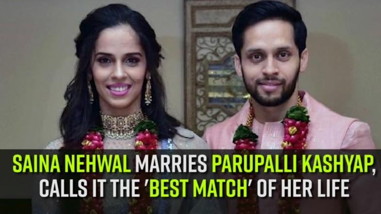 Saina Nehwal marries Parupalli Kashyap, calls it the best match of her life