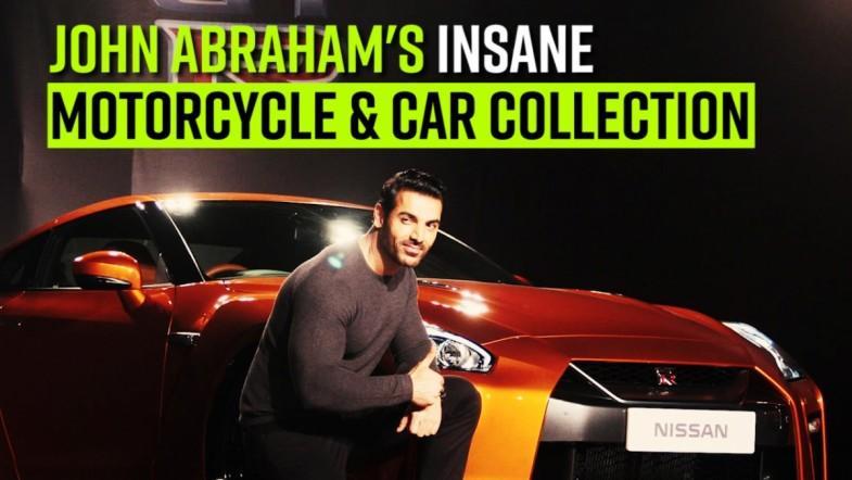 John Abrahams insane motorcycle and car collection