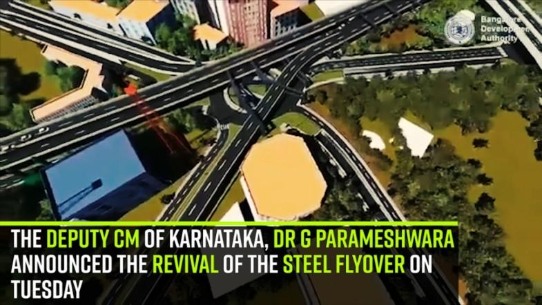 The Deputy CM of Karnataka, Dr G Parameshwara announced the revival of the steel flyover on Tuesday
