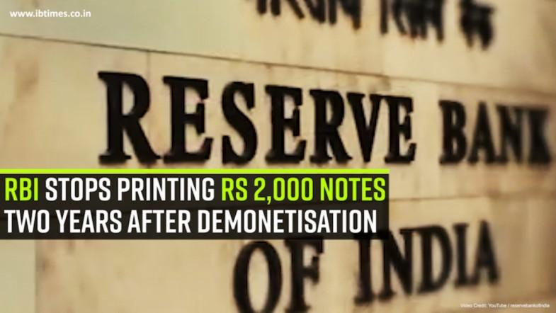 RBI stops printing Rs 2,000 notes two years after demonetisation