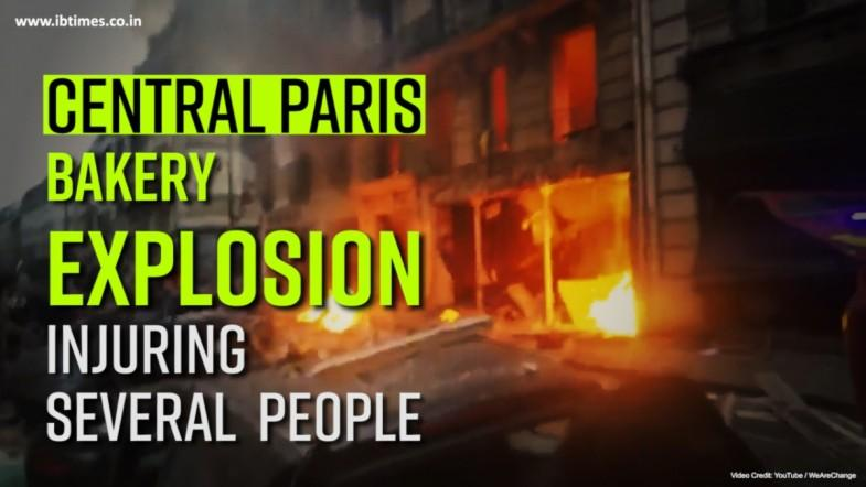 Central Paris Bakery Explosion Injuring Several  People