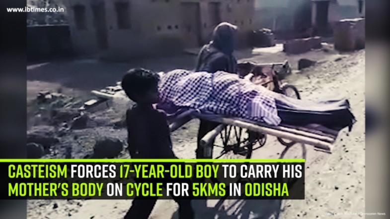 Casteism forces 17-year-old boy to carry his mothers body on cycle for 5kms in Odisha