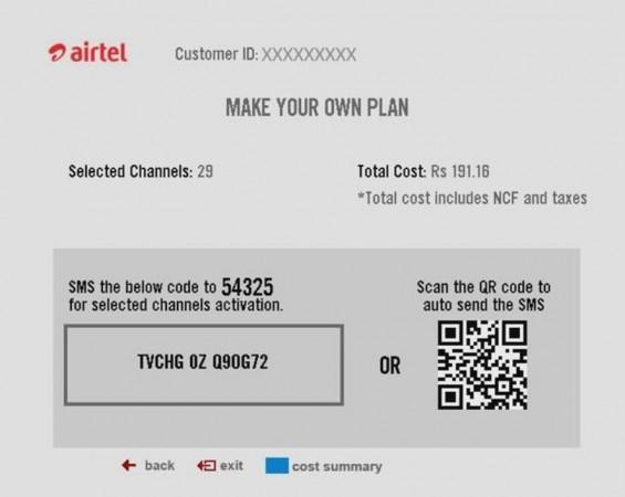 Airtel, digital TV, new subscription plan