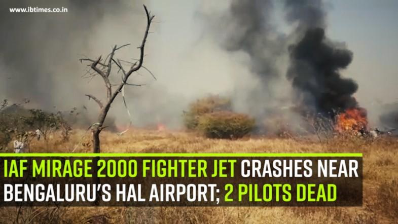 IAF Mirage 2000 fighter jet crashes near Bengalurus HAL Airport