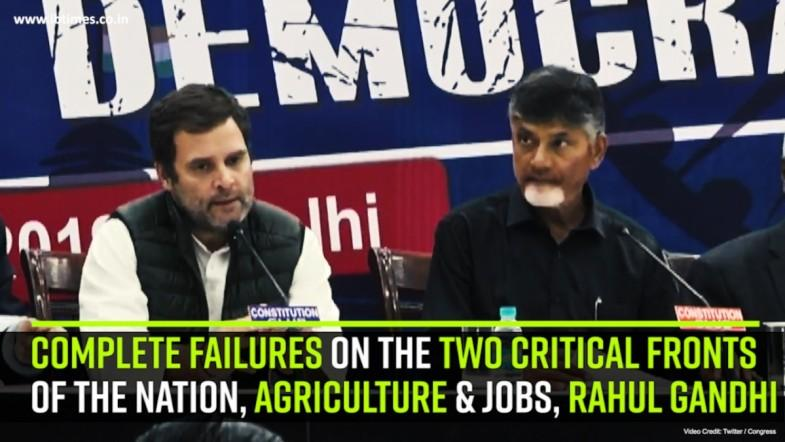 Complete failures on the two Critical fronts Of the nation, Agriculture and Jobs, Rahul Gandhi