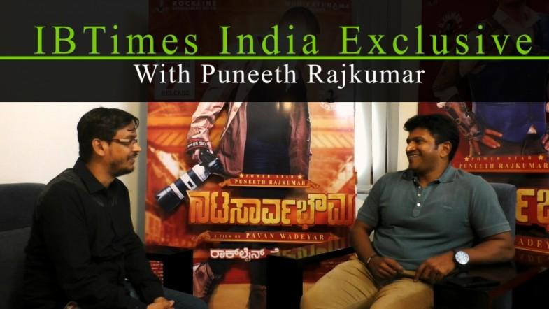 Puneeth Rajkumar speaks to IBTimes (India) about Natasaarvabhowma (Nata Sarvabhouma)