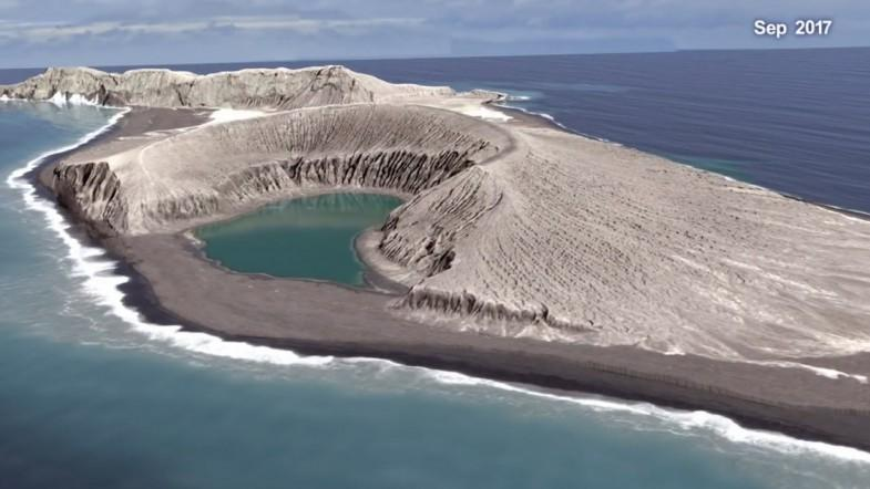 New Volcanic Island Forms in South Pacific