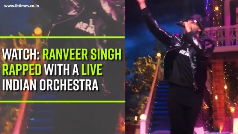 Watch: Ranveer Singh rapped with a live Indian orchestra