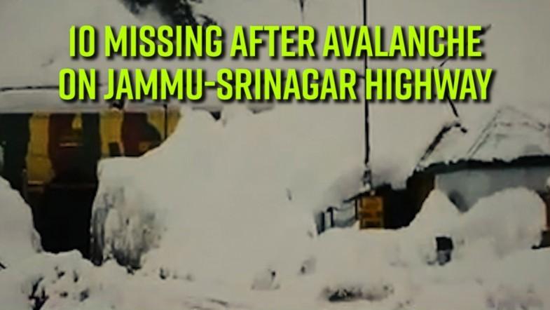 10 missing after avalanche on Jammu-Srinagar highway