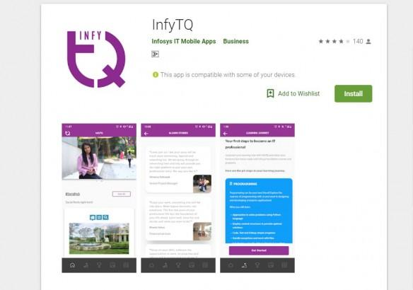 InfyTQ, Infosys, engineering, learning app, Google Play store