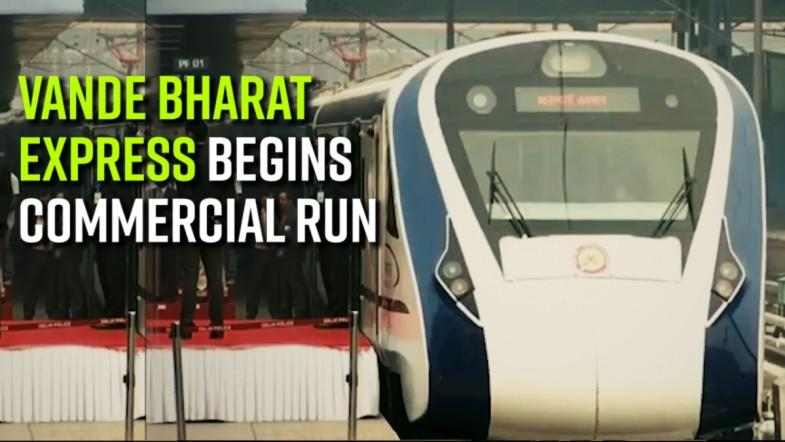 Vande Bharat Express begins commercial run