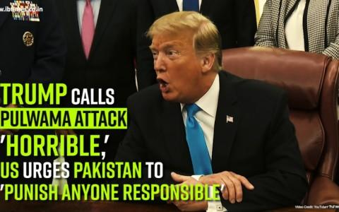 Trump calls Pulwama attack 'horrible,' US urges Pakistan to 'punish anyone responsible'