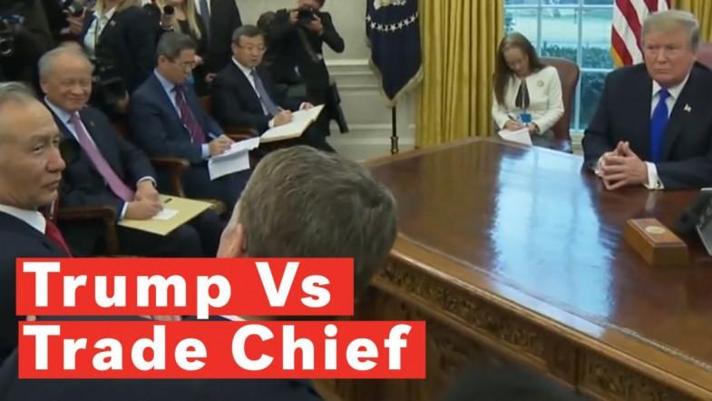 Trump Disagrees With Trade Chief In Front Of Chinese Officials And The Press