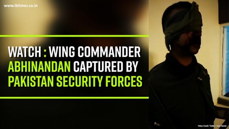 Pakistan claims IAFs Wing Commander Abhinandan Varthaman in its custody, releases video