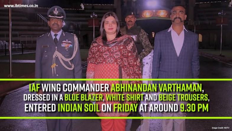Indian Air Force pilot Abhinandan Varthaman held his head high and crossed over to the Indian side