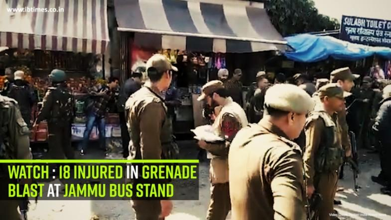 Watch: 18 injured in grenade blast at Jammu bus stand