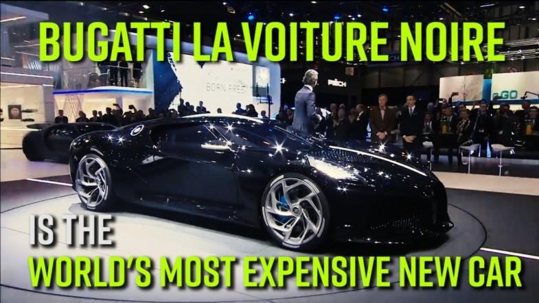 Bugatti La Voiture Noire is the worlds most expensive new car