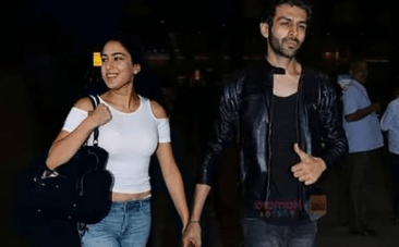 Sara Ali Khan and Kartik Aaryan holding hands. Real or fake?