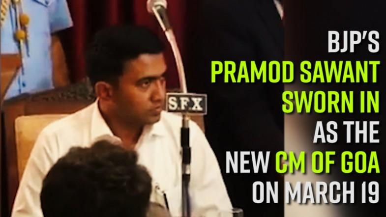 BJPs Pramod Sawant sworn in as the new CM of Goa on March 19