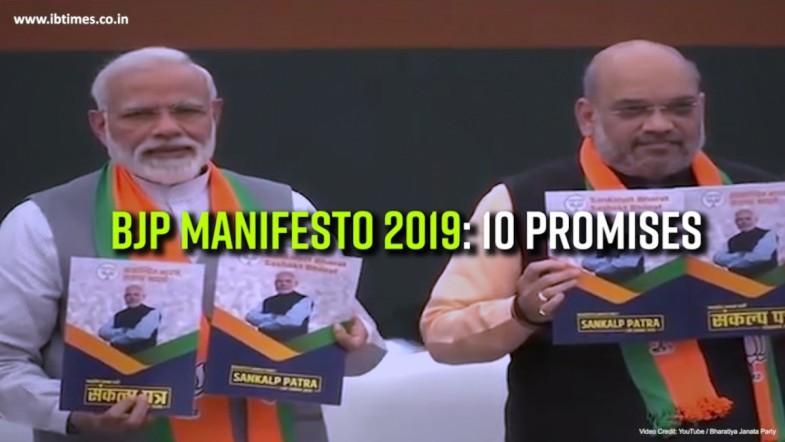 BJP Manifesto - 2019; Key Promises
