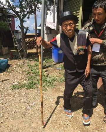 A 100-year-old man came to cast his vote for the first phase of the 2019 Lok Sabha elections in Nagaland's Mokokchung district.