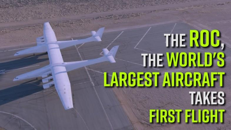 The Roc, the worlds largest aircraft takes first flight