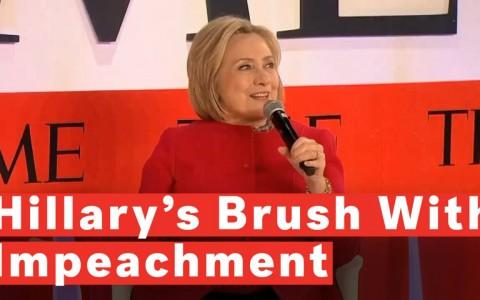 Audience Laughs After Hillary Clinton Mentions Personal History With Impeachment