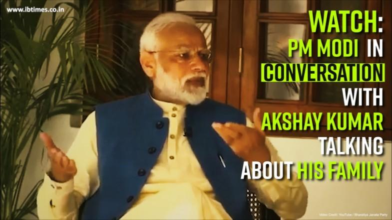 Watch: PM Modi in conversation with Akshay Kumar talking about his family