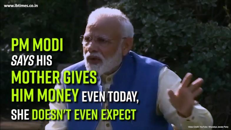 PM Modi Says his mother gives him money even today, She doesnt even expect