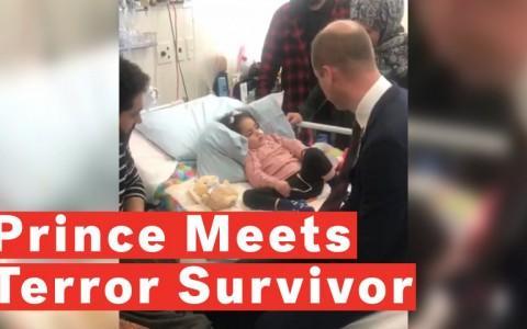 Prince William Meets Terror Attack Survivor