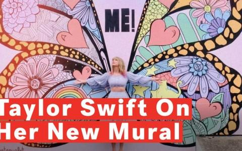 Taylor Swift Surprises Fans With Butterfly Mural In Nashville Ahead Of TS7 Announcement