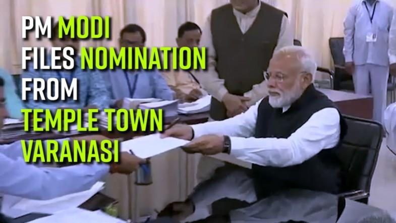 PM Modi files nomination seeking re-election from temple town Varanasi