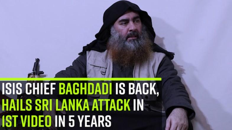 WATCH: ISIS chief Baghdadi is back, hails Sri Lanka attack in 1st video in 5 years