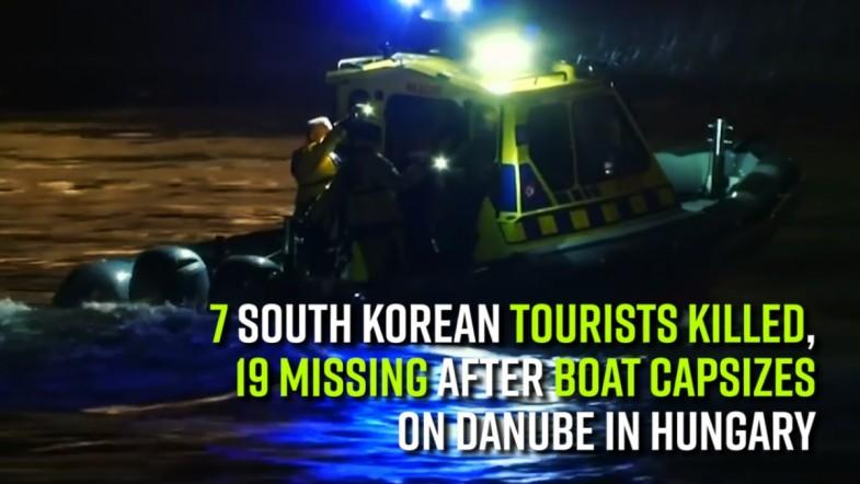 7 South Korean tourists killed, 19 missing after boat capsizes on Danube in Hungary