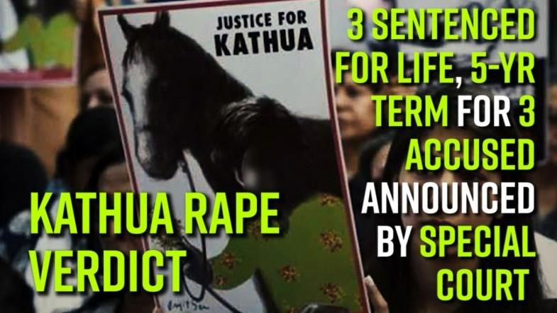 Kathua rape verdict: 3 sentenced for life, 5-yr term for 3 accused announced by special court