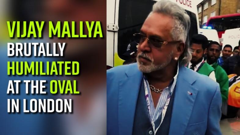 Vijay Mallya brutally humiliated at The Oval in London