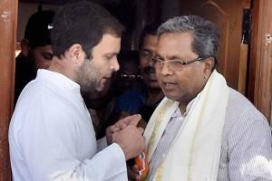 Siddaramiah and Rahul Gandhi