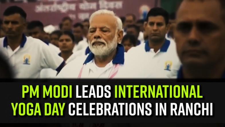 PM Modi leads International Yoga Day celebrations in Ranchi