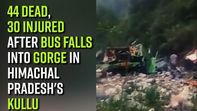 44 dead, 30 injured after bus falls into gorge in Himachal Pradeshs Kullu