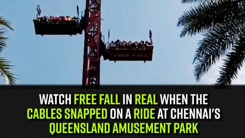 Watch | Free fall in real when the cables snapped on a ride at Chennais Queensland Amusement Park