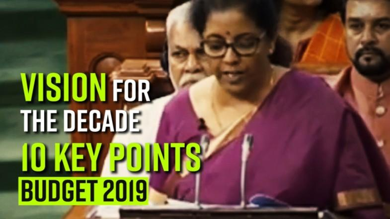 Vision for the decade | 10 Key points - Budget 2019 - 2020