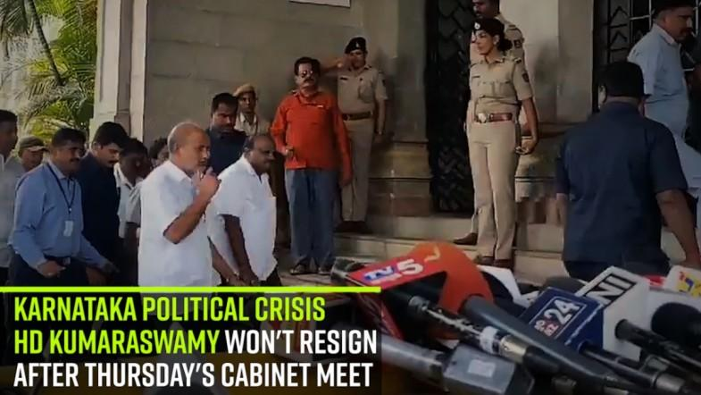 Karnataka political crisis | Kumaraswamy wont resign after Thursdays cabinet meet