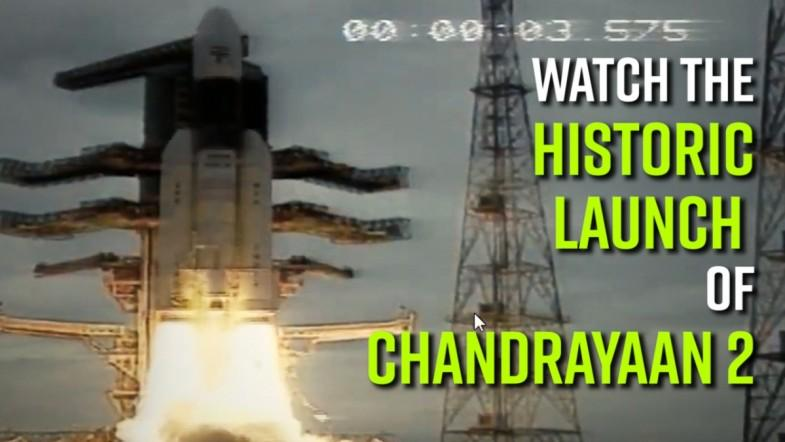 ISROs moon mission Chandrayaan-2 lifts off from Sriharikota