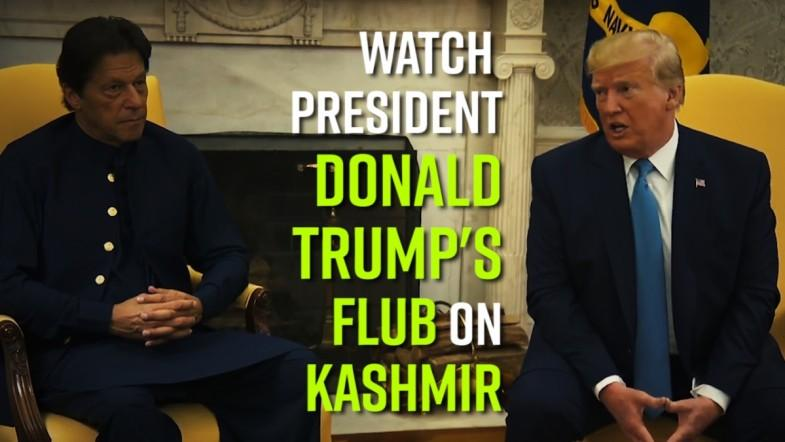 Watch: President Donald Trumps flub on Kashmir