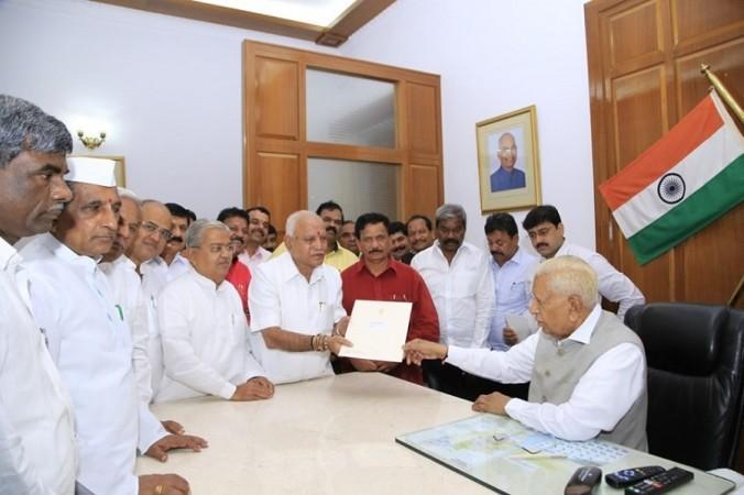BS Yeddyurappa meets Vajubhai Vala