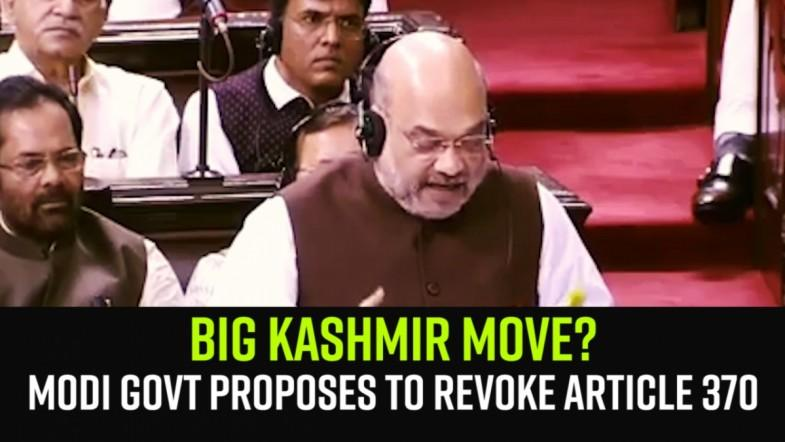 Big Kashmir move? Modi govt proposes to revoke Article 370