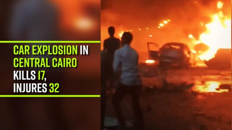 Car explosion in Central Cairo kills 17, injures 32