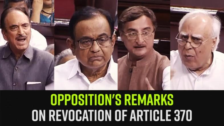 Watch | Oppositions Remarks on Revocation of Article 370