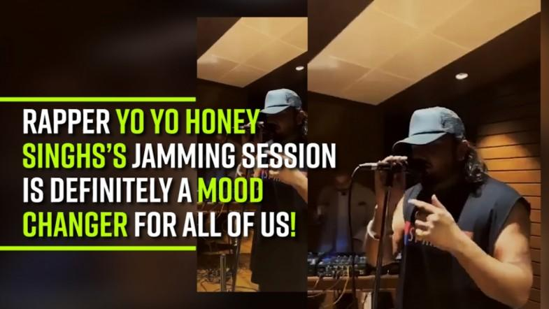 Rapper Yo Yo Honey Singhs's jamming session is definitely a mood-changer for all of us!